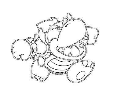 #4 Bowser Coloring Page
