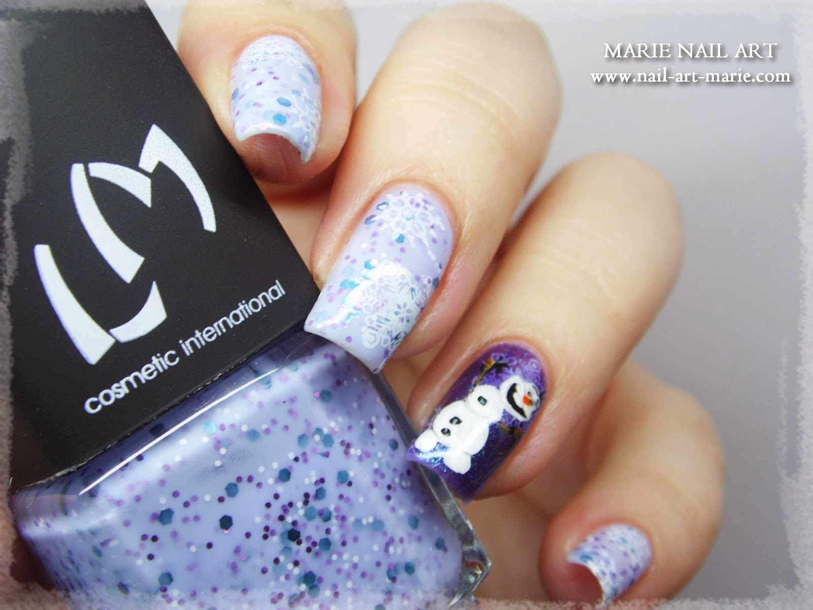 nail art Olaf Reine des Neiges
