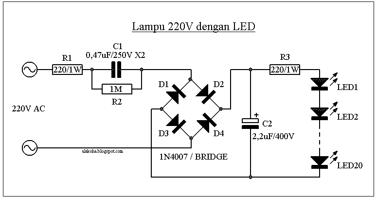 alakoha   u2022 lampu 220v dengan led