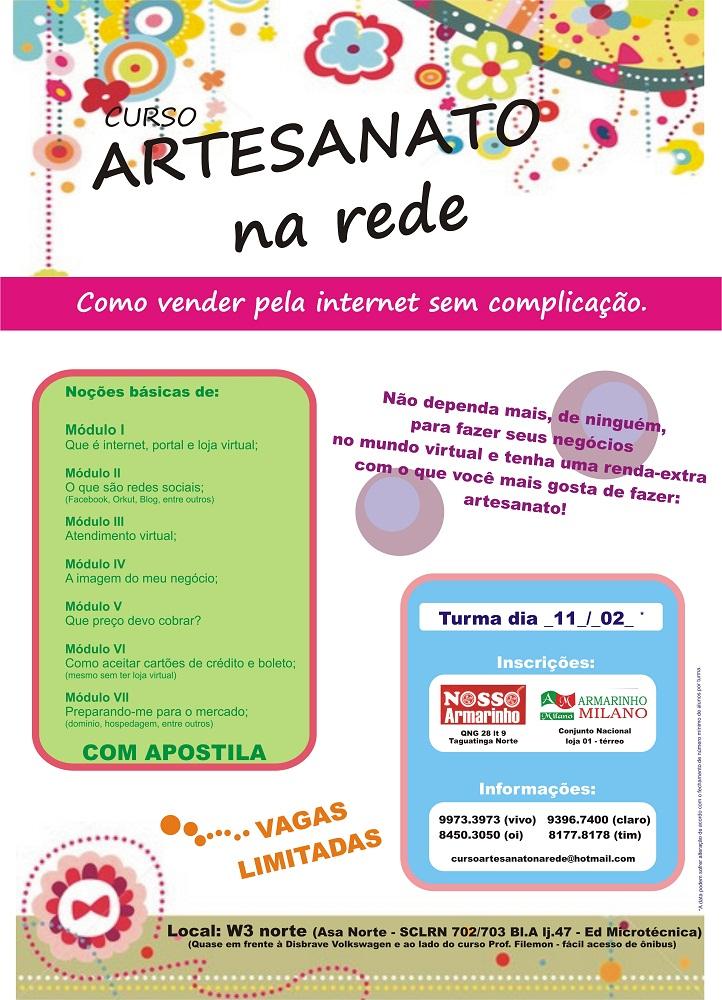 Galeria Do Artesanato São Carlos ~ Curso Artesanato na Rede