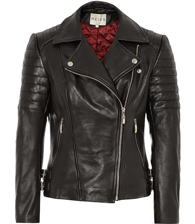 reiss biker coat