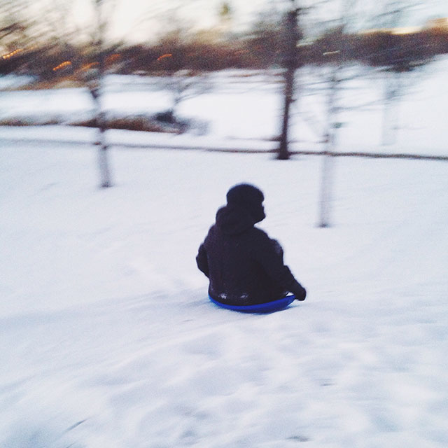 Speed-demon sledding!