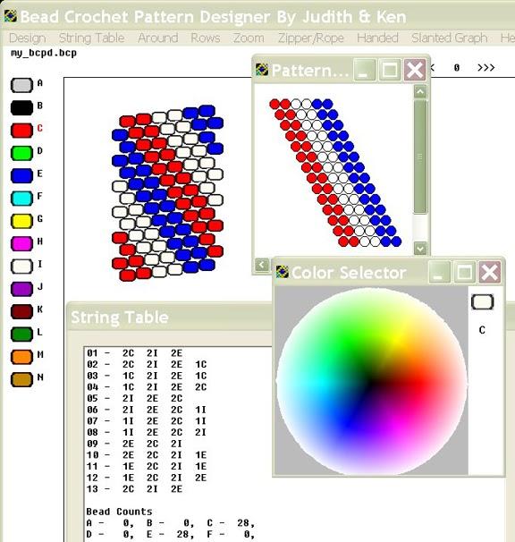 Crochet Pattern Maker Program Free : Bead Line Studios: BCPD - Bead Crochet Software