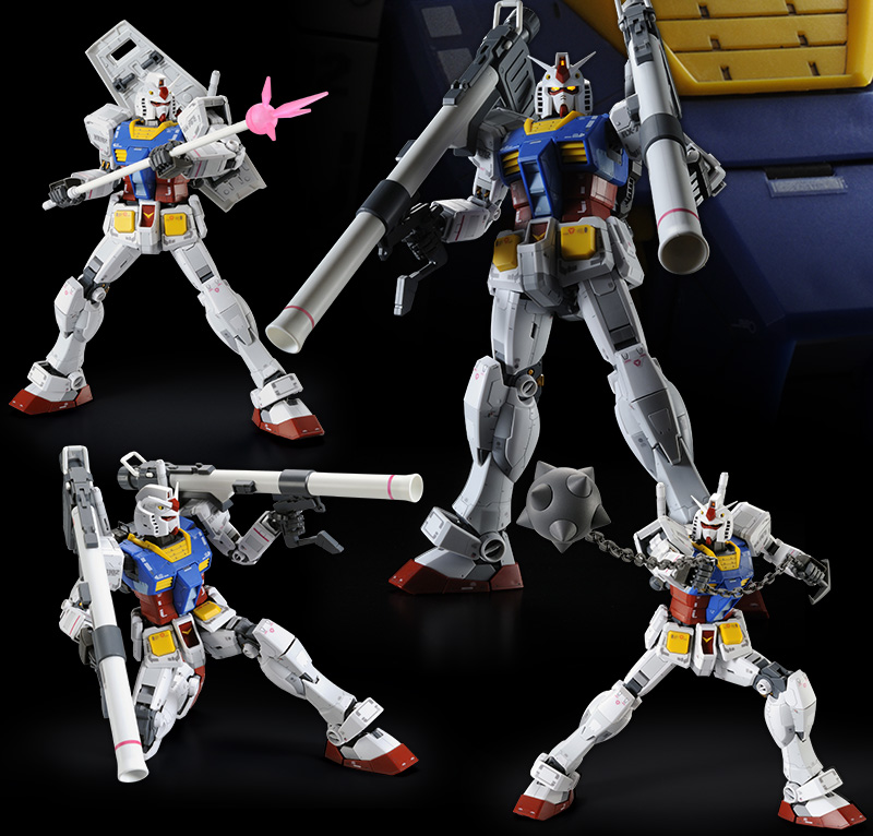 P-Bandai Hobby Online Shop Exclusive: MG 1/100 RX-78-02 Ver 3.0 Extra Weapon Pack - Promo Images