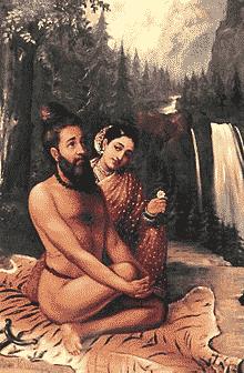 Menaka berusaha menggoda Wiswamitra