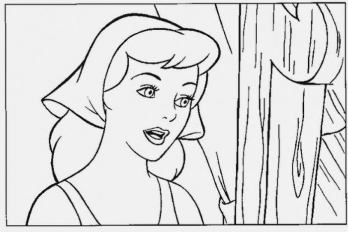 Cinderella to Draw Print Color Cut and Paste | Coloring Sheets ...