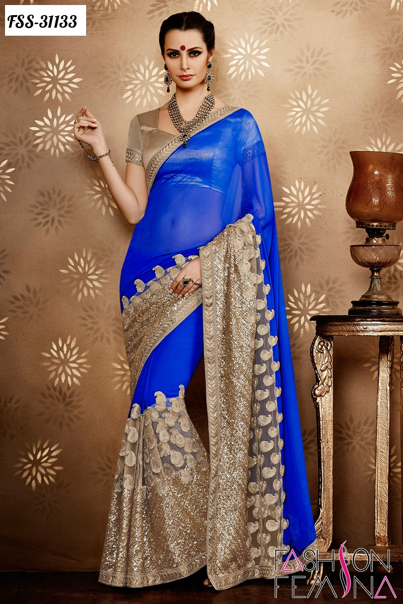 Fashion femina latest indian wedding designer sarees 2016 for Luxury fashion online