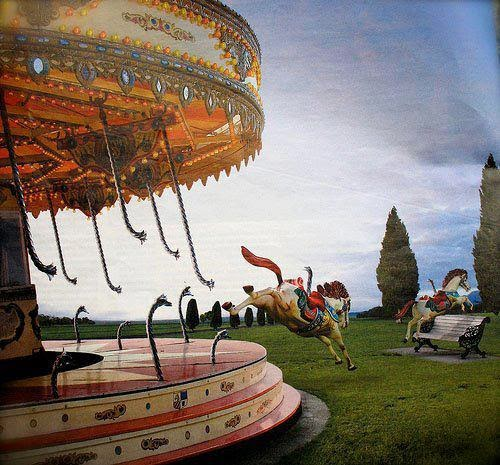 Escape From The Carousel Painting Erika Heller