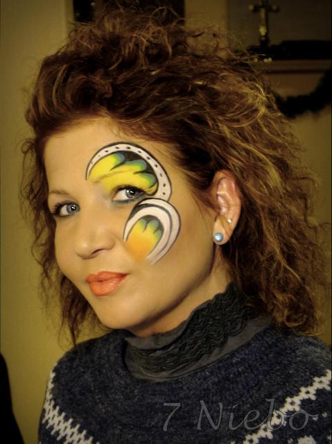 7 Niebo Wizaż Rybnik Makijaż Artystyczny Wykonany Farbami Wodnymi