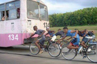 Funny picture: Cycling in South Africa
