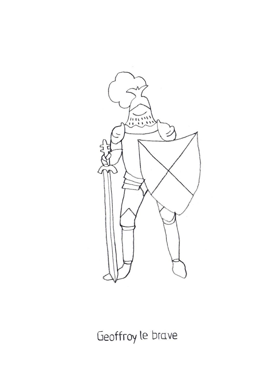 Coloriage: Chevalier à cheval Jeux gratuits en ligne - Coloriage En Ligne Chevalier