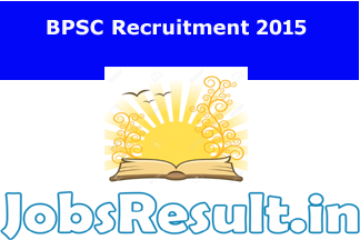 BPSC Recruitment 2015