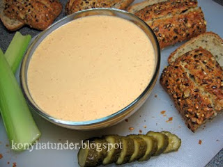 cottage-cheese-dipping-celery-bread-gherkin