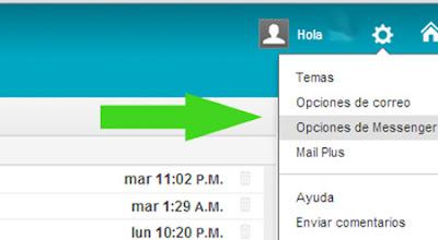 opciones yahoo mail