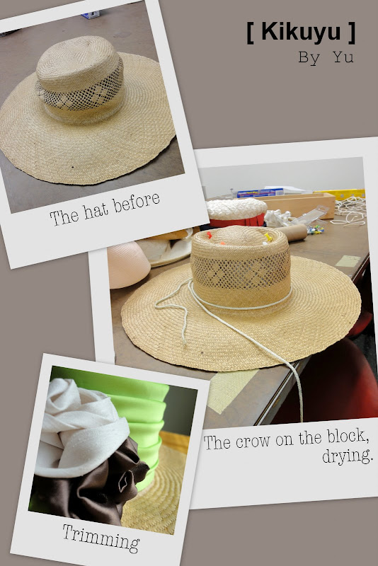 refurbishing a straw hat