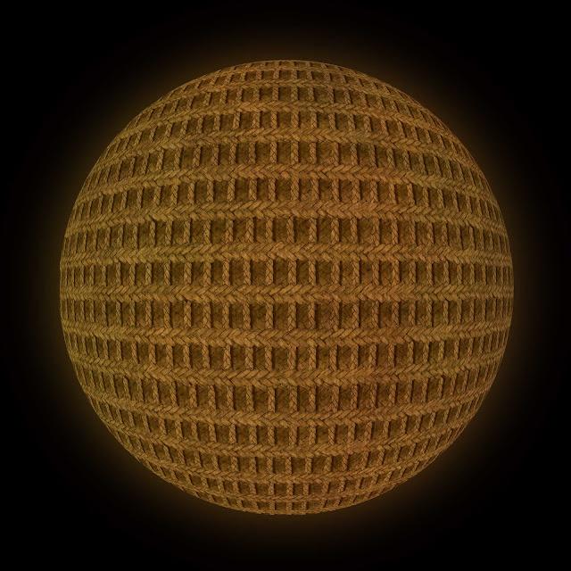 esfera, Escher, trenzado de fibras esparto, cruzada, dibujo