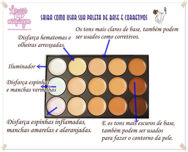 Paleta 15 Bases e Corretivos