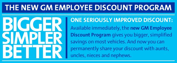 New GM Employee Discount Program