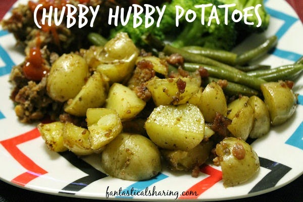 Chubby Hubby Potatoes | Potatoes. Check. Onion. Check. Bacon. CHECK! These potatoes are delicious!