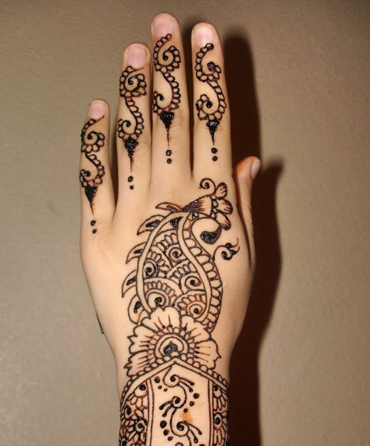Back Hand Fingers Mehndi Design : Simple indian mehndi designs for hands fashion club