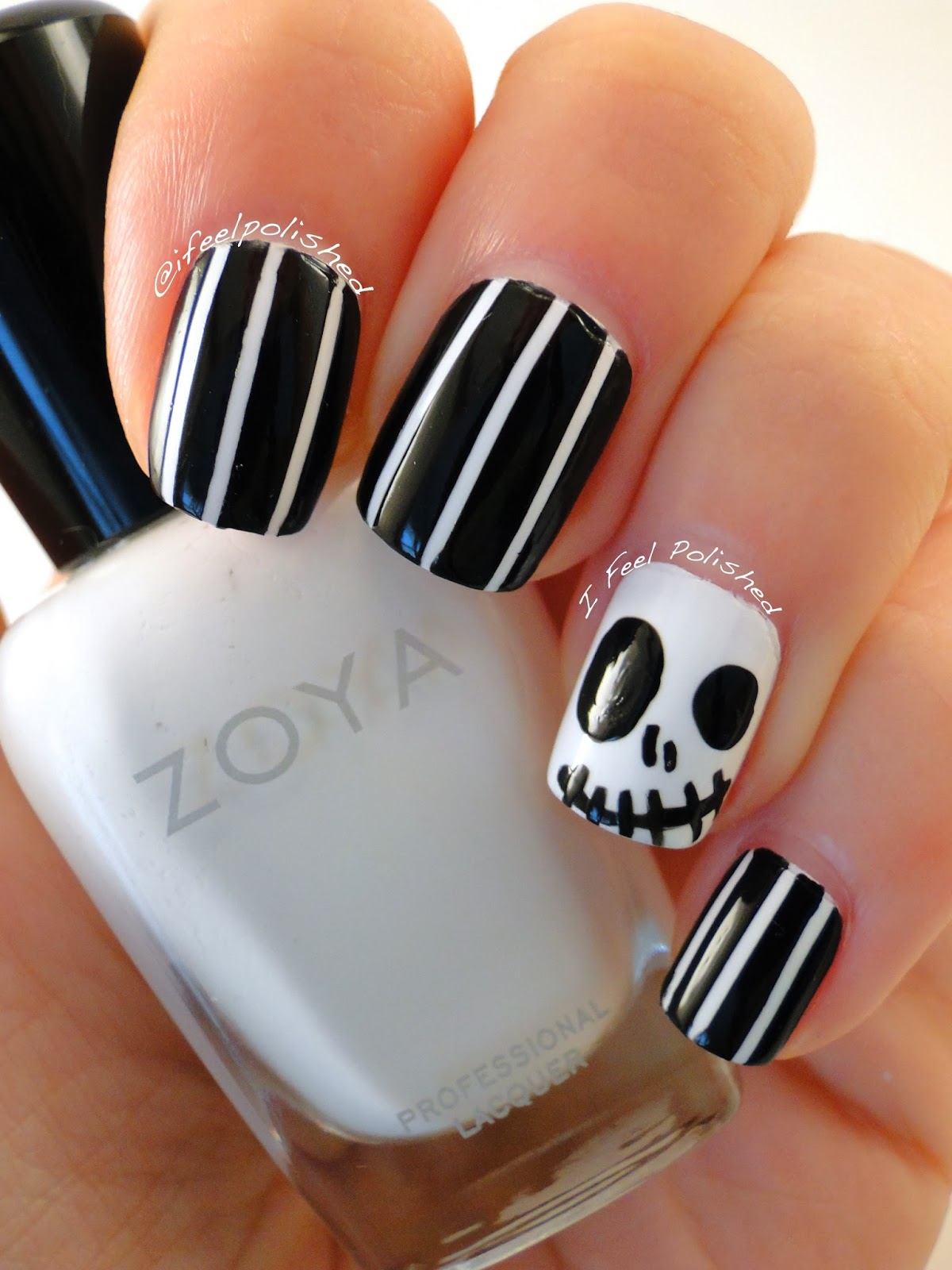 I Feel Polished!: Happy Halloween! Jack Skellington Nails
