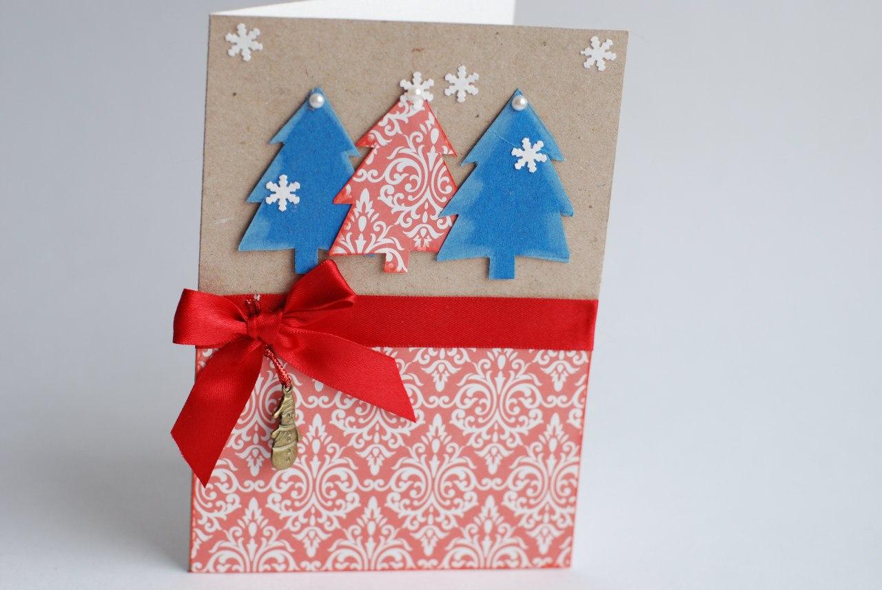 Как сделать открытку из картона только из картона