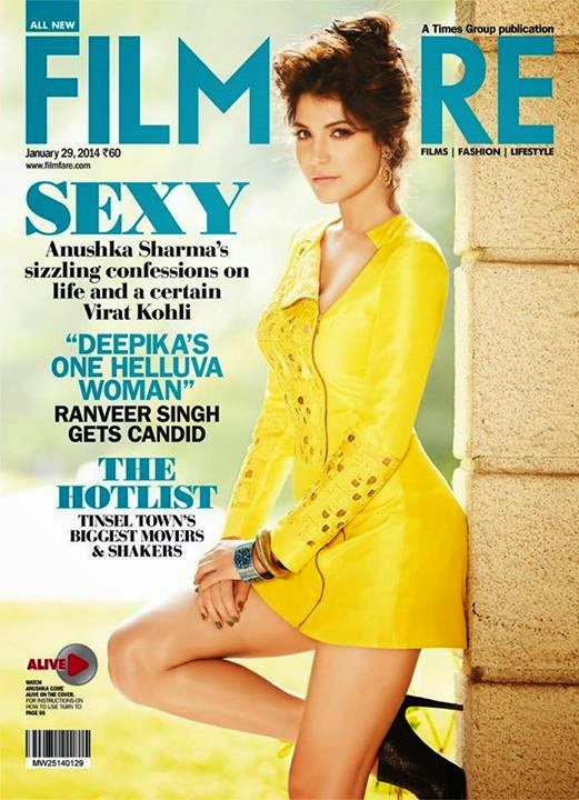 Anushka Sharma'a Filmfare Magazine January 2014 Photo 1