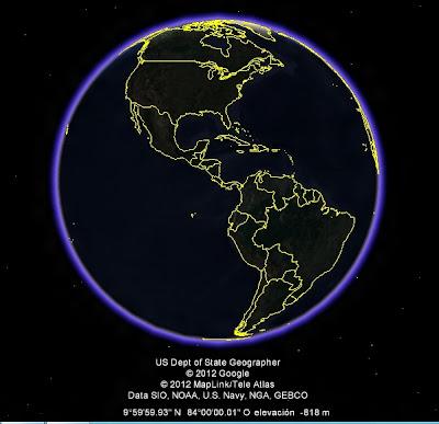 AMERICA EN EL MUNDO, vista nocturna