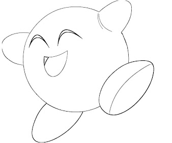 #5 Kirby Coloring Page