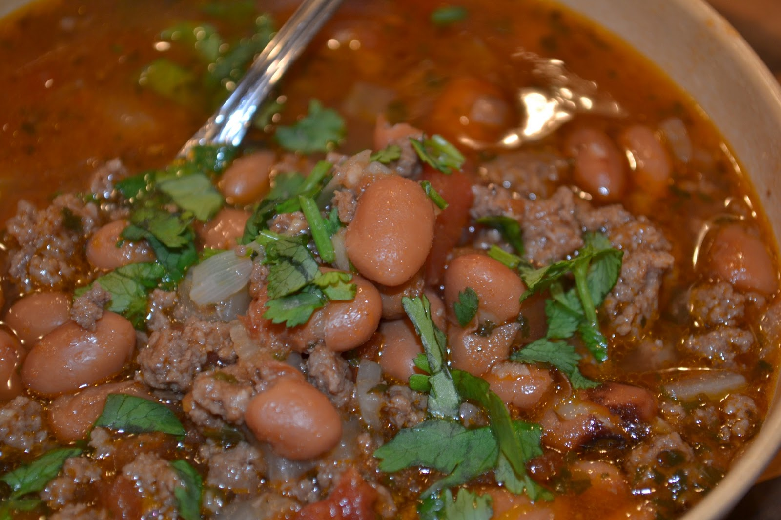 recipe: pinto beans ground beef [4]
