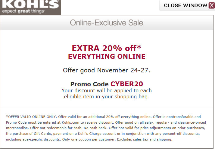 Kohls com coupons free shipping