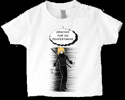 """Camiseta manga corta para bebé """"Madres ninja"""" color blanco"""