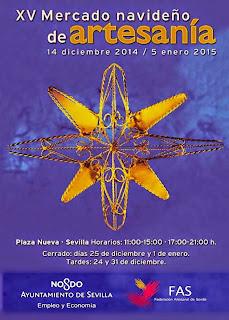 Sevilla - Navidad 2014 - Mercado navideño de Artesanía - Cartel