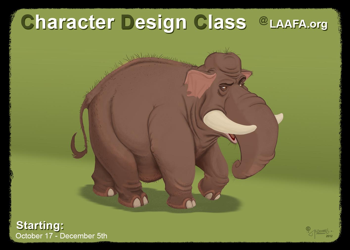 Character Design Class : Mark mcdonnell new character design class laafa starts