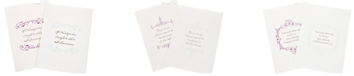 Jane Austen quotation cards, letterpress printed by inviting, available at the Jane Austen Centre in Bath,, by shopinviting