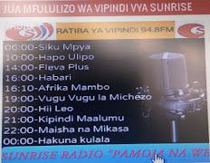 JUA VIPINDI VYA SUNRISE RADIO