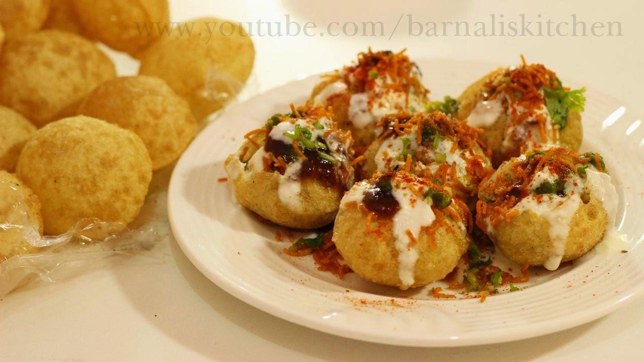 Barnalis kitchen recipes dahi puri recipe popular indian street food snacks or chaat forumfinder Choice Image