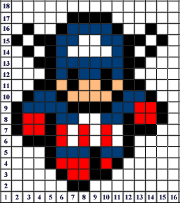 captain america pixel art templates minecraft pixel art building