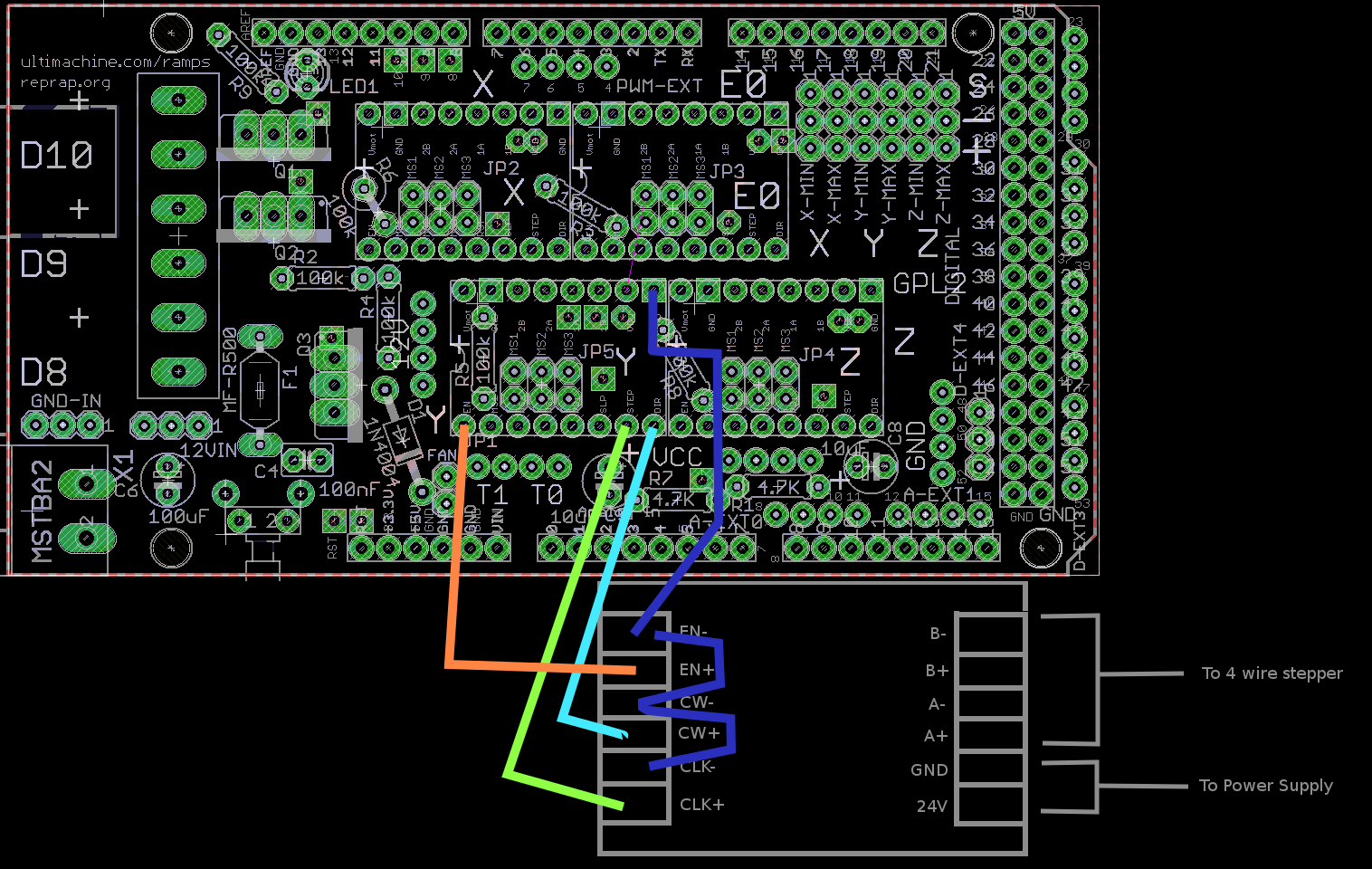 team9 99 replacing pololu stepper drivers tb6560s necessary wiring i have bashed together an example wiring diagram for replacing the y axis pololu driver one of these tb6560 boards