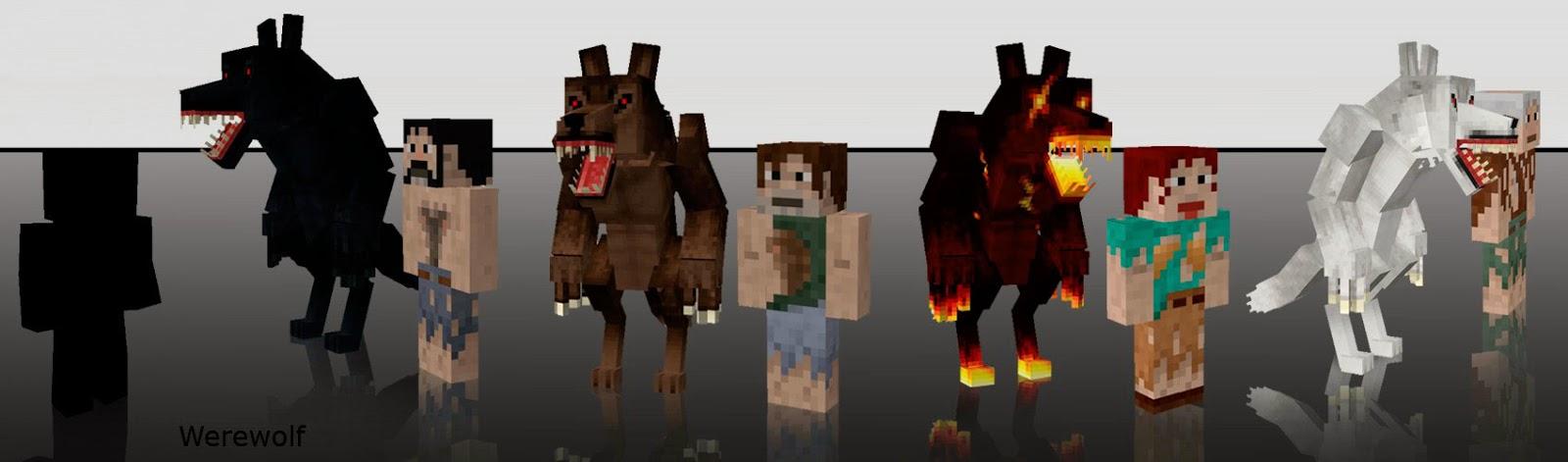 Mo' Creatures hombres lobo Minecraft mod