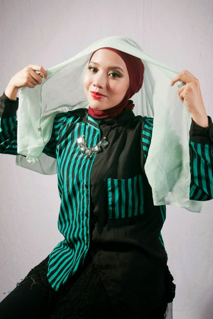 Tutorial Hijab Paris Aksen Wave 2