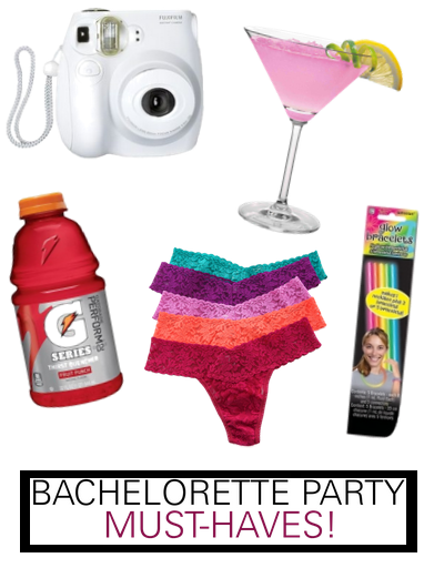 bachelorette party musthaves