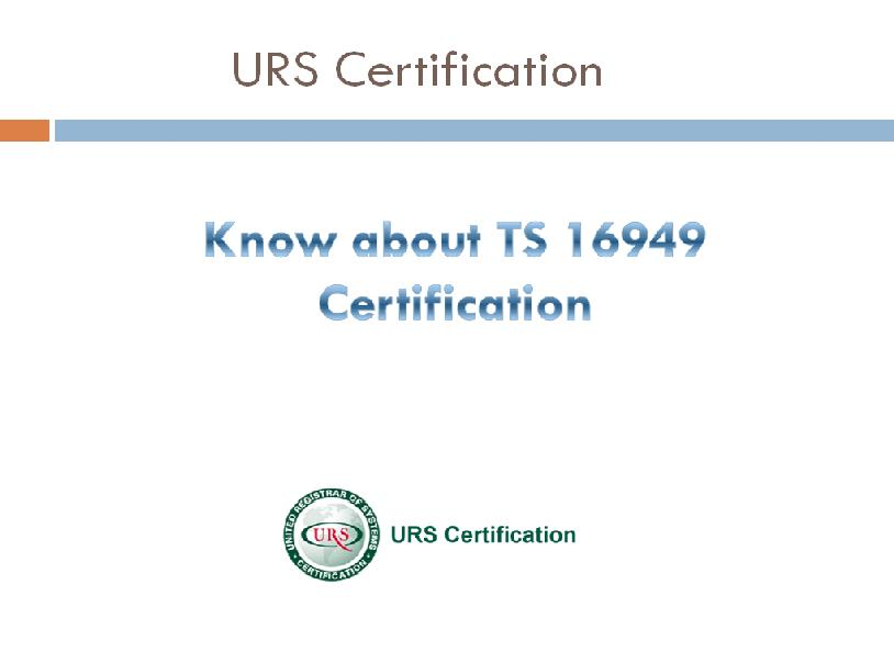 TS 16949 Certification, Automotive Quality System: What is TS 16949 ...