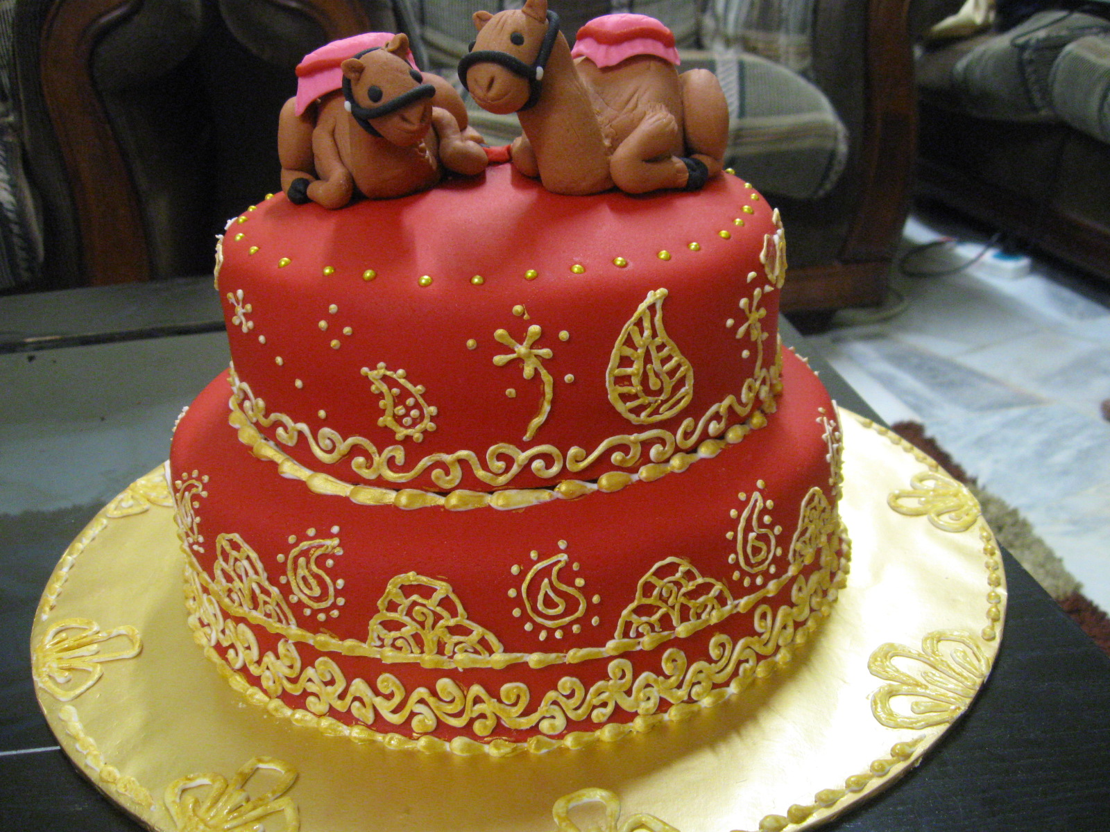 Cakes Cupcakes For All Occasions Rajasthan Themed Wedding Cake