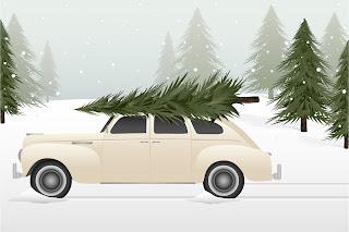 クリスマス・リースと家族 beautiful christmas wreath vector イラスト素材4