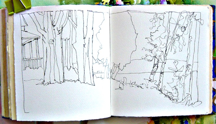 Contour Line Drawing Tree : In and out of the studio walloon