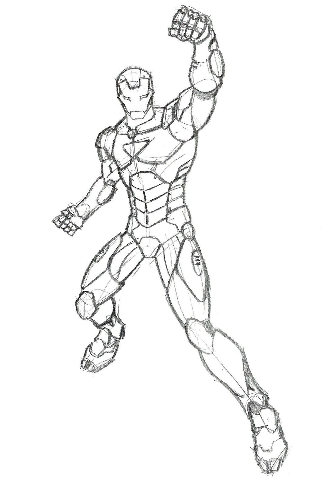 Iron Man Armor Sketch Me, The Hawk and The R...