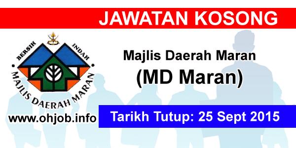Jawatan Kerja Kosong Majlis Daerah Maran (MDMaran) logo www.ohjob.info september 2015