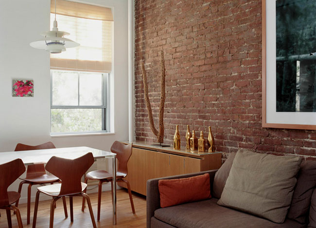 Idehadas interior design muros de ladrillo visto - Ladrillos decorativos para interiores ...