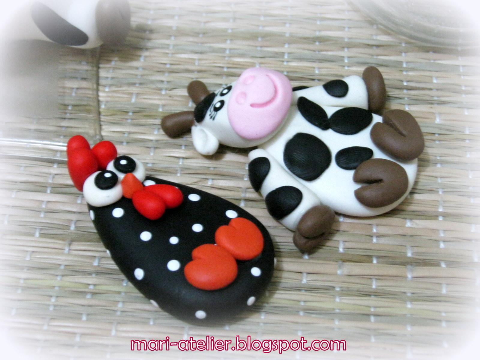 Mari Atelier Enfeites p cozinha Vaquinha e galinha dangola